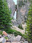 Pocrupine Falls seen through the Bighorn National Forest of Wyoming. Stock Photo - Royalty-Free, Artist: Wirepec                       , Code: 400-04925104