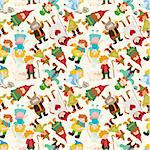 cartoon story people seamless pattern Stock Photo - Royalty-Free, Artist: notkoo2008                    , Code: 400-04925242