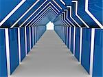 3d house tunnel blue home estate business Stock Photo - Royalty-Free, Artist: dak                           , Code: 400-04925290