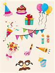 cartoon Birthday icon   Stock Photo - Royalty-Free, Artist: notkoo2008                    , Code: 400-04926243