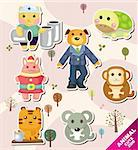 cartoon animal icons Stock Photo - Royalty-Free, Artist: notkoo2008                    , Code: 400-04926246