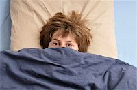 people in panic - Teenage Boy in Bed Stock Photo - Premium Rights-Managednull, Code: 700-04929257