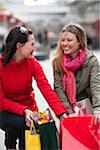 Pair of young women shopping Stock Photo - Premium Royalty-Freenull, Code: 6102-04929544