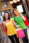 Pair of young women shopping Stock Photo - Premium Royalty-Freenull, Code: 6102-04929554