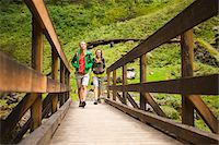 Two Women Hiking in the Columbia River Gorge, near Portland, Oregon, USA Stock Photo - Premium Rights-Managednull, Code: 700-04931683