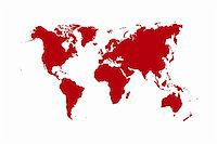 World map isolated over a white background Stock Photo - Royalty-Freenull, Code: 400-04932543