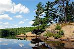Scenic lake landscape at Algonquin provincial park, Ontario, Canada Stock Photo - Royalty-Free, Artist: Elenathewise                  , Code: 400-04932785