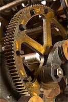An old and dirty industrial gears background. Shallow DOF Stock Photo - Royalty-Freenull, Code: 400-04933996