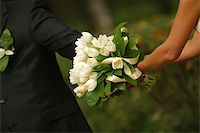 The groom keep the bride for hands Stock Photo - Royalty-Freenull, Code: 400-04939284