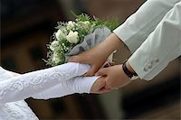 The groom keep the bride for hands Stock Photo - Royalty-Freenull, Code: 400-04941681