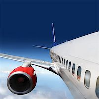 wings and engines of aircraft Stock Photo - Royalty-Freenull, Code: 400-04941838
