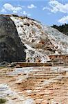 Terraced geyser at Mammoth Hot Springs. Stock Photo - Royalty-Free, Artist: granitepeaker                 , Code: 400-04942131