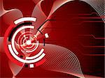 abstract futuristic illustrated background in red and black showing the passing of information thru the internet Stock Photo - Royalty-Free, Artist: Nicemonkey                    , Code: 400-04949681