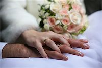 The groom keep the bride for hands Stock Photo - Royalty-Freenull, Code: 400-04951871