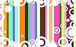Hi Color background with white circles overlayed
