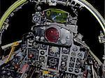 Powerful military fighter jet aircraft cockpit close up Stock Photo - Royalty-Free, Artist: Baloncici                     , Code: 400-04953367
