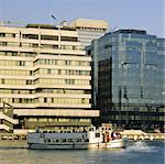 river thames london city of london  wharf wharves pleasure boat day trip Stock Photo - Royalty-Free, Artist: davidmartyn                   , Code: 400-04954042