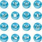A set of fashion, clothes and accessory icons Stock Photo - Royalty-Free, Artist: Krisdog                       , Code: 400-04954404