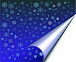 Abstract with white snow flakes against blue background Stock Photo - Royalty-Free, Artist: Friday                        , Code: 400-04954635