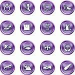 A set of fashion, clothes and accessory icons Stock Photo - Royalty-Free, Artist: Krisdog                       , Code: 400-04954695