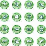 A set of fashion, clothes and accessory icons Stock Photo - Royalty-Free, Artist: Krisdog                       , Code: 400-04955135