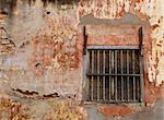 Window with steel bars of old brick building, lacking maintenance Stock Photo - Royalty-Free, Artist: epixx                         , Code: 400-04956785