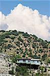 Corrugated metal miner's shack perched on an Arizona hillside. Stock Photo - Royalty-Free, Artist: creatista                     , Code: 400-04961701