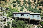 Corrugated metal miner's shack perched on an Arizona hillside. Stock Photo - Royalty-Free, Artist: creatista                     , Code: 400-04961702