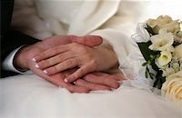 The groom keep the bride for hands Stock Photo - Royalty-Freenull, Code: 400-04967772
