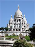 The Sacre-Coeur Basilica in Montmartre, Paris. Stock Photo - Royalty-Free, Artist: LFChavier                     , Code: 400-04968315