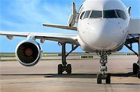 business plane parked at the airport Stock Photo - Royalty-Freenull, Code: 400-04969435