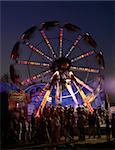 The Revolvinging Round-robin in amusement park in the night. Stock Photo - Royalty-Free, Artist: ichip                         , Code: 400-04973963