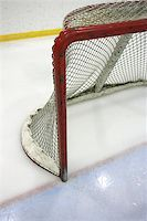 Goal post and net in a hockey arena. Stock Photo - Royalty-Freenull, Code: 400-04975328