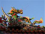 traditional chinese dragon on the temple roof Stock Photo - Royalty-Free, Artist: yuriz                         , Code: 400-04976730