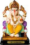 Statue of Ganesha, the God of education, knowledge and wisdom in the Hindu mythology Stock Photo - Royalty-Free, Artist: rohitseth                     , Code: 400-04976843