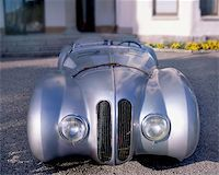 Silver classic car Stock Photo - Royalty-Freenull, Code: 400-04976937
