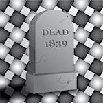 Illustration of a tombstone. Stock Photo - Royalty-Free, Artist: samgrandy                     , Code: 400-04980982