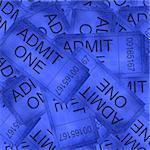 Admittance tickets Stock Photo - Royalty-Free, Artist: argus456                      , Code: 400-04982687