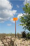 empty sign post against the sky Stock Photo - Royalty-Free, Artist: kmit                          , Code: 400-04983515