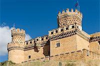 Mendoza´s palace, Manzanares el real, Madrid (Spain) Stock Photo - Royalty-Freenull, Code: 400-04985294