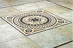 Floor tile mosaic in Italian style angle