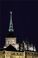 Tower of Le Mont St Michel, Normandy (France) Stock Photo - Royalty-Freenull, Code: 400-04987731