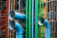 The facade of the Pompidou museum, Paris (France) Stock Photo - Royalty-Freenull, Code: 400-04987737