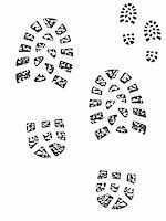 Set of muddy and clean boot prints Stock Photo - Royalty-Freenull, Code: 400-04990602