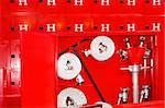 Complete mandatory fire hydrant and hose equipment  Stock Photo - Royalty-Free, Artist: Baloncici                     , Code: 400-04991555