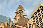 Old city hall of toronto in neo-gothic style between modern skyscrapers under the sunset light Stock Photo - Royalty-Free, Artist: citylights                    , Code: 400-04992796