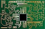 Vector - High tech mother board with chip components background. Concept: Technology.