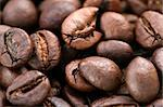 Macro picture with coffee grains. Stock Photo - Royalty-Free, Artist: arosoft                       , Code: 400-05001295