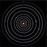 schematical image of the solar system.  With Clipping Path Stock Photo - Royalty-Free, Artist: 3DClipArtsDe                  , Code: 400-05004173