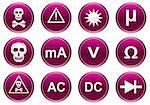 Gadget icons set. White - purple palette. Vector illustration. Stock Photo - Royalty-Free, Artist: boroda                        , Code: 400-05008269